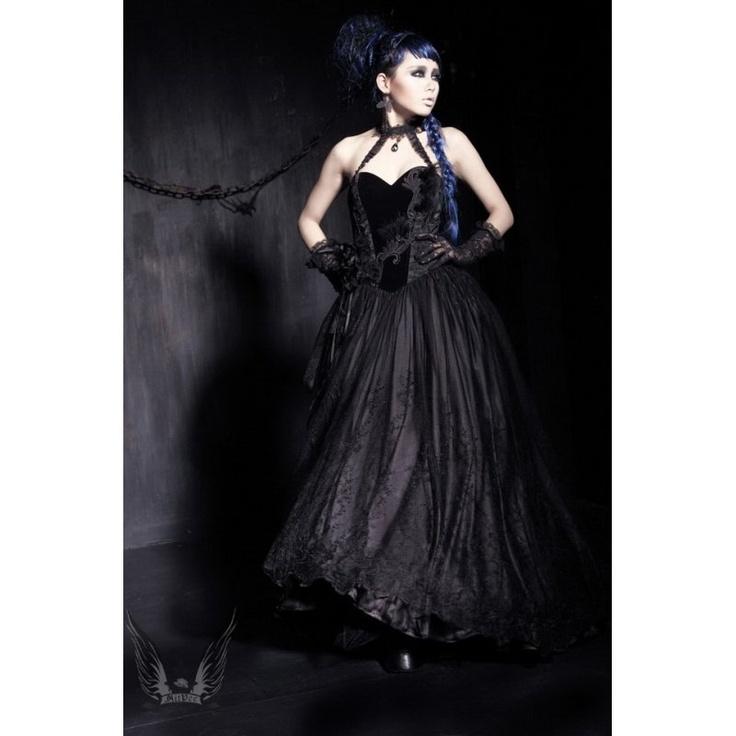 goth wedding dress, Gothic Hochzeitskleid (aityce.de)