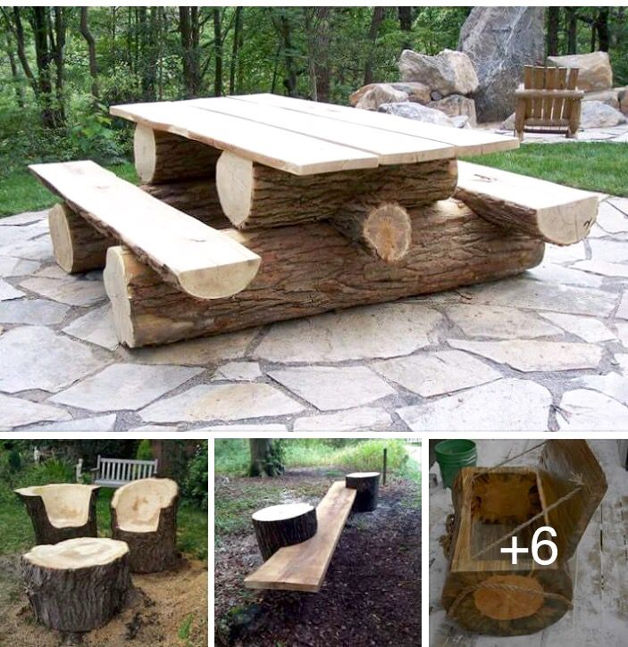 Outdoor table 25 best Tree Salvage Inspirations