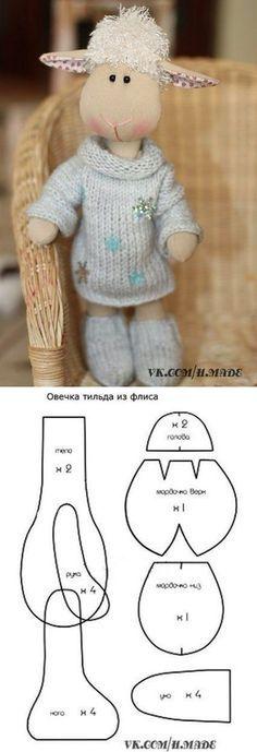 DIY Lamb Sheep Toy Softie - FREE Sewing Pattern