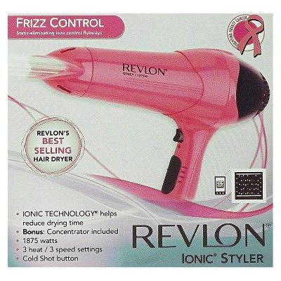 Revlon 1875W Frizz Control Hair Dryer, Pink