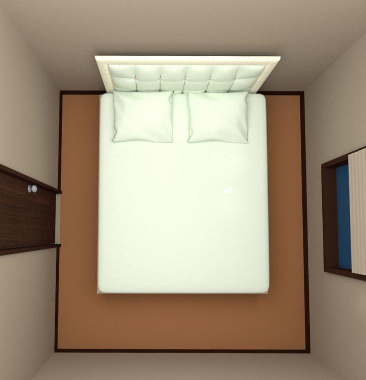 4 5畳の部屋にクイーンサイズベッドを配置 寝室 レイアウト 6畳 ベッドルーム レイアウト ミニマルなベッドルーム