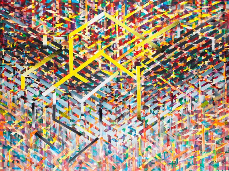 Małgorzata Kosiec, Mania, 2014, akryl, płótno, 200x150 cm.