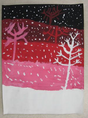 4th Grade Value Snowy Landscapes