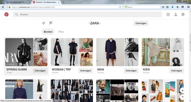 Zara communiceert met meer dan 350.000 volgers door met verschillende borden de nieuwe collecties voor te stellen voor jong, oud, man en vrouw.