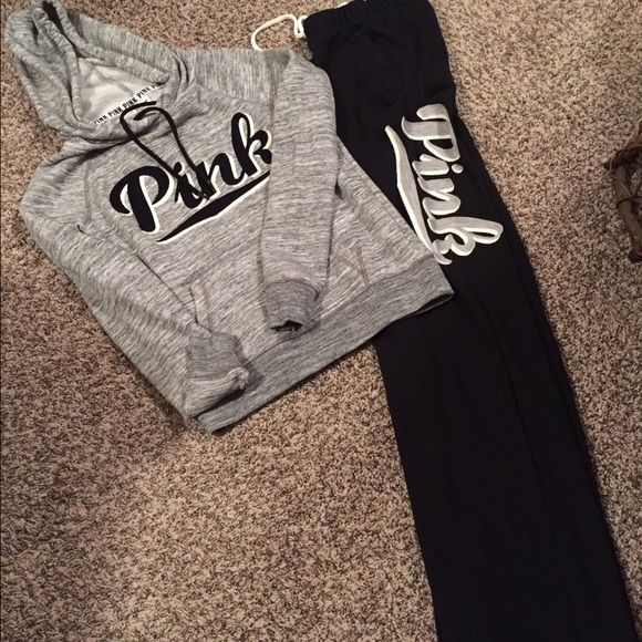 VS Pink Boyfriend Sweatpants Sz XS & in like new condition. Never worn but washed once. This is for the sweatpants only! Hoodie is not included! No trades! Price is firm! PINK Victoria's Secret Pants Track Pants & Joggers