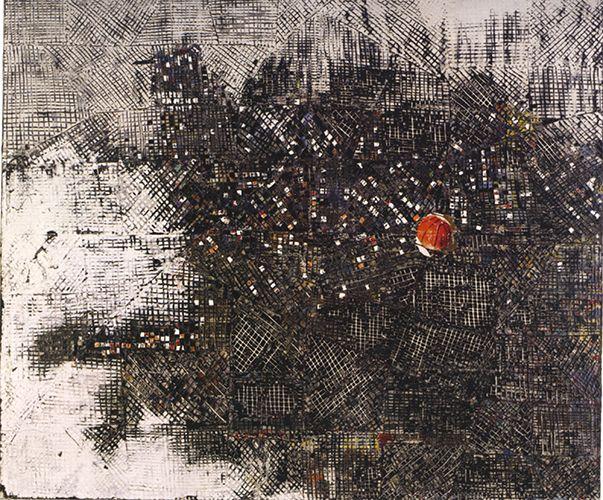 "Mark Bradford / ""orbit"", 2007, mixed media collage, 72×84 inches."