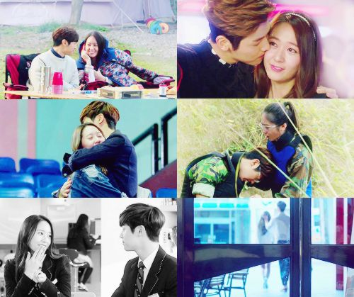 Minhyuk and Krystal from The Heirs, too adorable.