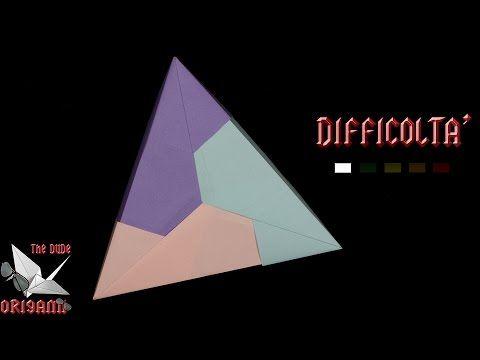 [ORIGAMI ITA] Scatola Triangolare || Scatole/Modulari/Facili - YouTube