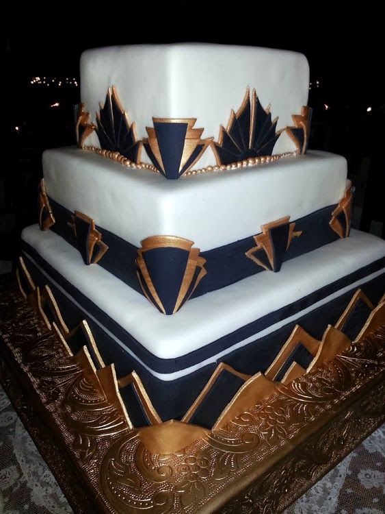 Art Deco Cake Slice : 66 best images about Art Deco Wedding Cakes on Pinterest