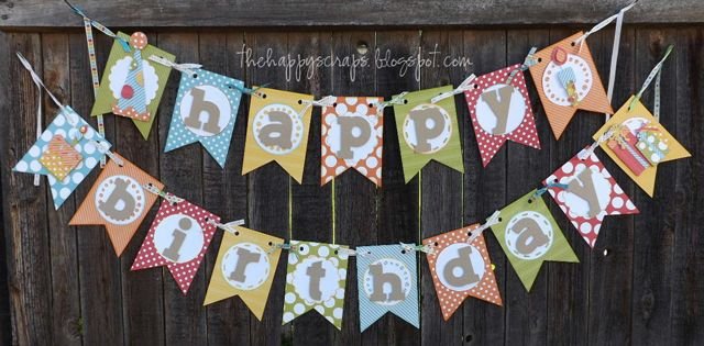 Happy Birthday {Banner} at www.thehappyscraps.com