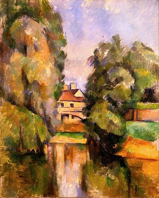 Country House by a River (1890) Paul Cézanne