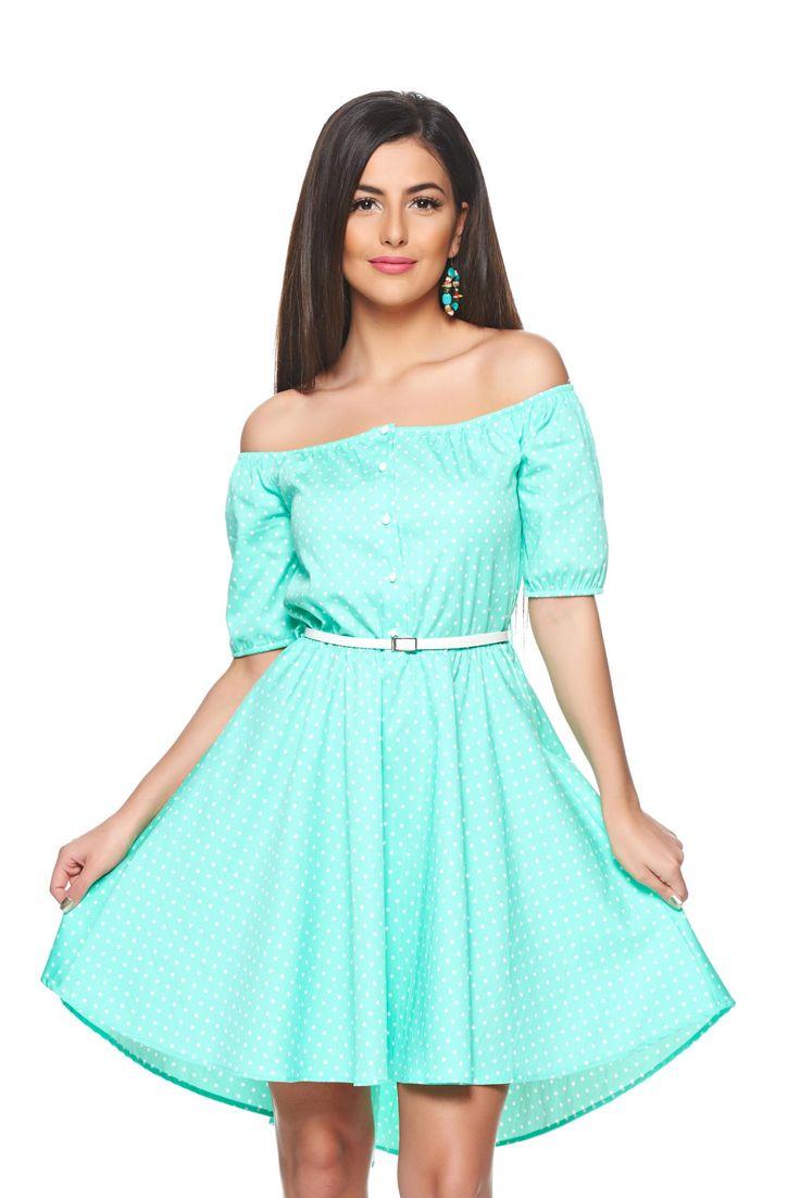 Rochie PrettyGirl Casual Style Green. Rochie de vara, cu croi lejer si design pe…