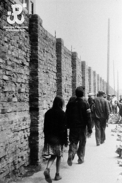 Ghetto wall - Warsaw, 1944. Time was running out for those inside.