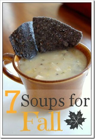 7 Easy Soup Recipes for Fall - Taco Soup, Potato Corn Chowder, Panera Copycats, and MORE YUMMY recipes to warm you up this season!