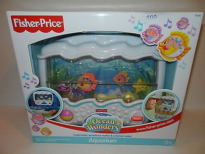 NEW Fisher Price Ocean Wonders Aquarium Baby Crib Bed Toy Music Lights Bubbles | Toys ...