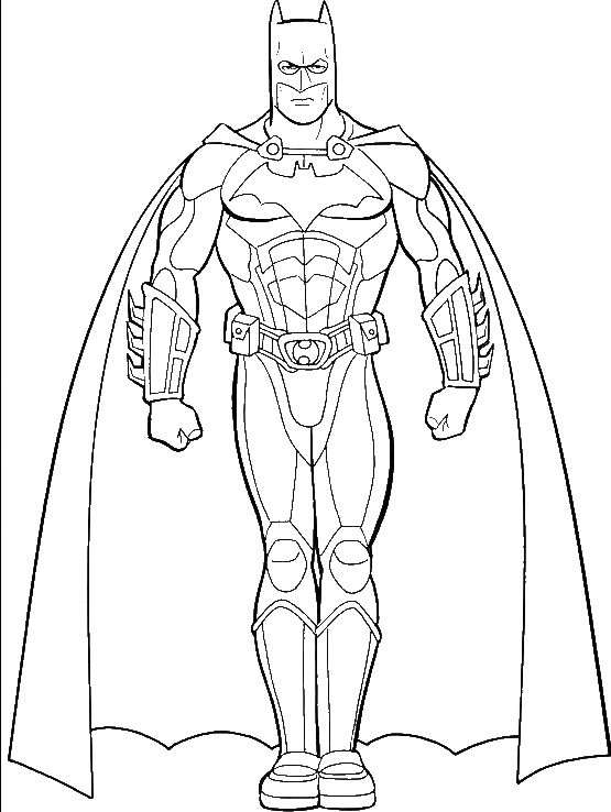 Pictures Of Batman Coloring For Kids - Super Hero Coloring Pages : KidsDrawing – Free Coloring Pages Online