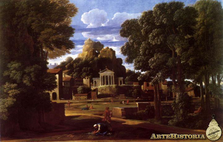 Poussin. Las cenizas de Foción (1648)