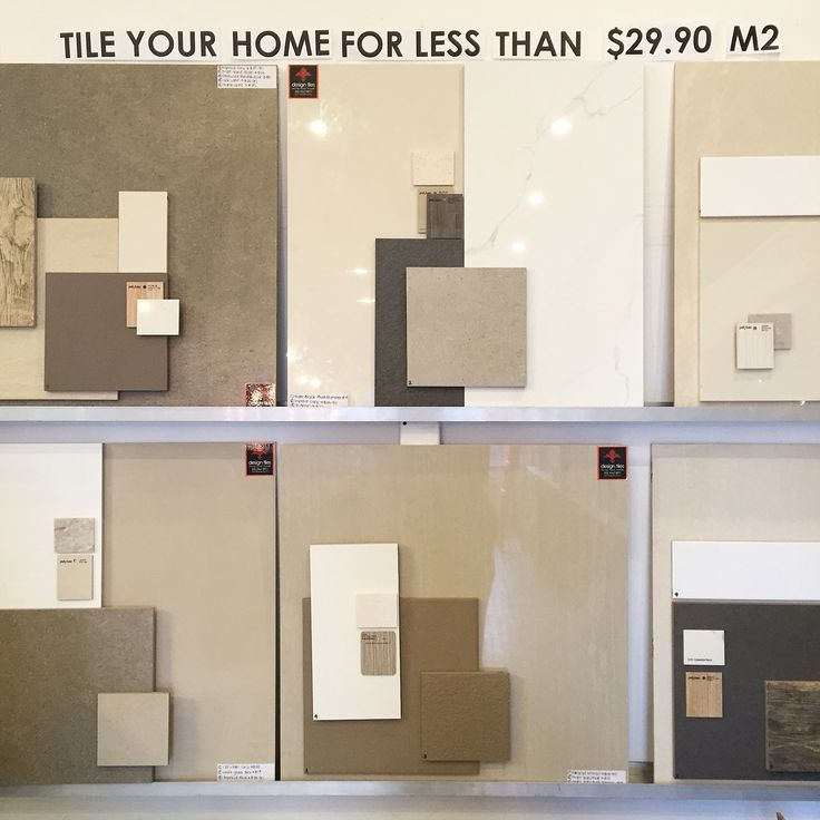 Reasons why you should be coming into design tiles this Saturday!  6 new complete home concept boards put together by our interior designer Dianna and interior designer Jacqueline. That's right ... Put together by interior designers FREE for you! Tile your whole home for less than $29m2!