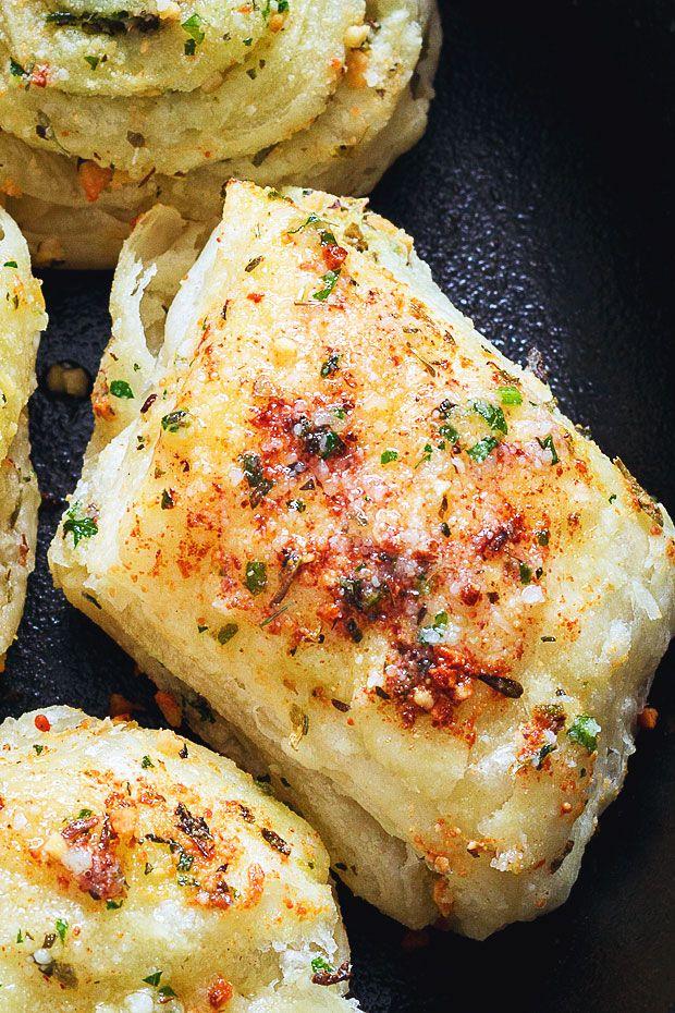 Garlic Parmesan Puff pastry-