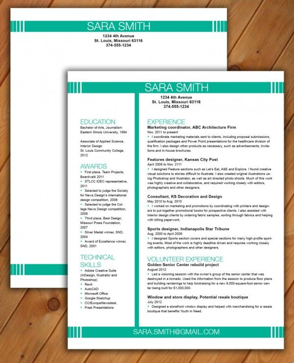 29 best Resumes, CVu0027s, \ Portfolios images on Pinterest - best place to post resume