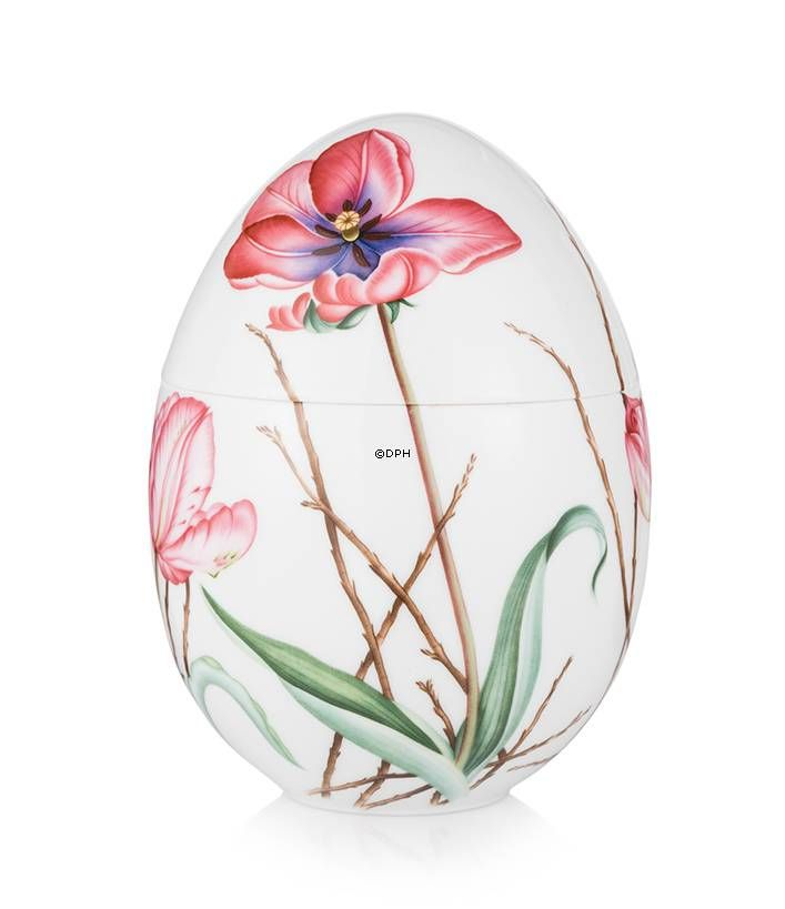 Anniversary Bonbonniere with tulip, standing, Royal Copenhagen Easter Egg 2015.