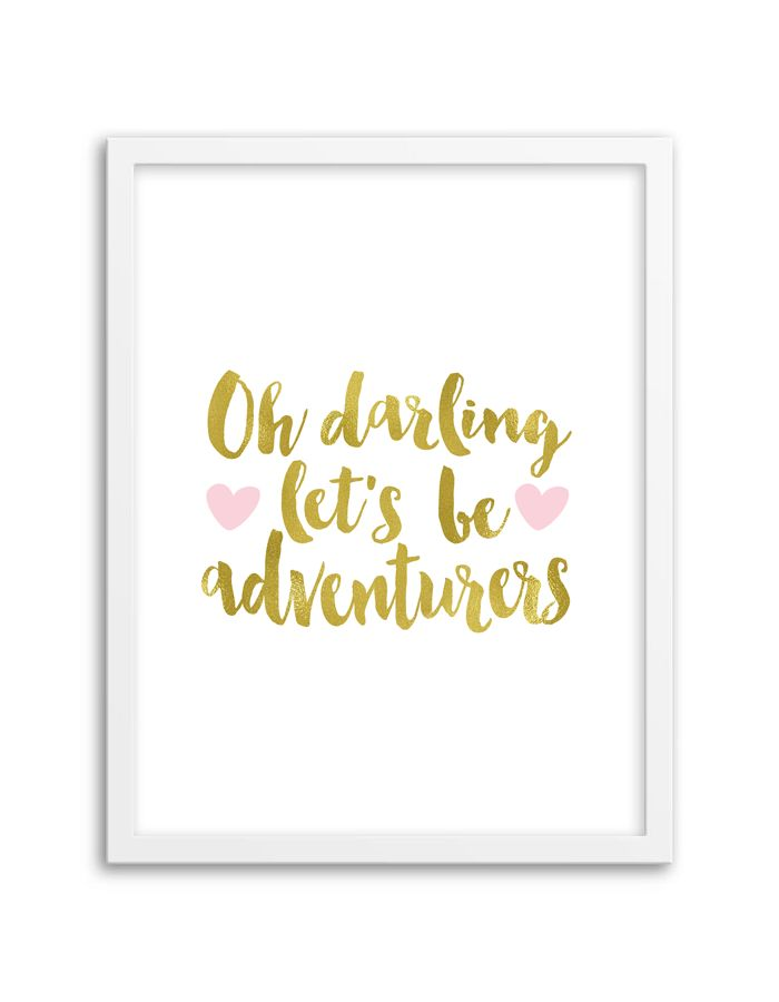 Download and print this free printable Let's Be Adventurers wall art for your home or office! Download by following the directions below.