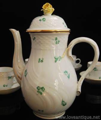 ヘレンド スキャタードフラワー グリーン コーヒーポット  | イギリスアンティーク Love Antique of London 英国アンティーク