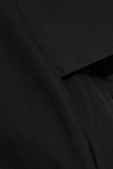 Halston Heritage - Cold-shoulder Cotton And Silk-blend Mini Dress - Black