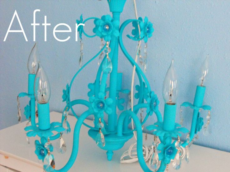 amazoncom metal flower basket chandelier with painted flowers - Turquoise Chandelier Light