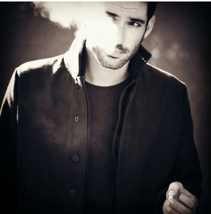 Tom Ellis — Another attractive man making smoking look more attractive than it ever should.