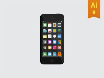 simple iphone .ai