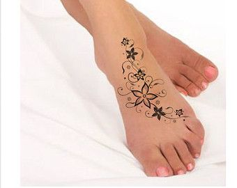 Temporary Tattoo Flower Waterproof Ultra Thin Realistic Fake Tattoo