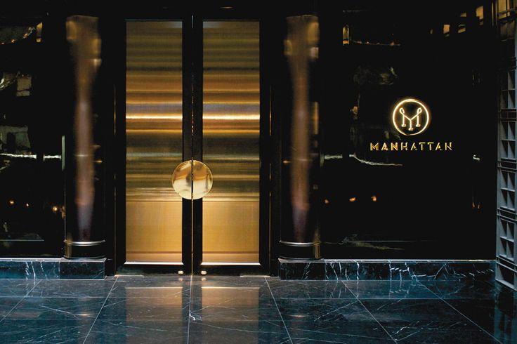 There Design-  Branding/ logo design for Manhattan-Four Seasons Hotel- Singapore  http://there.com.au/work/Manhattan
