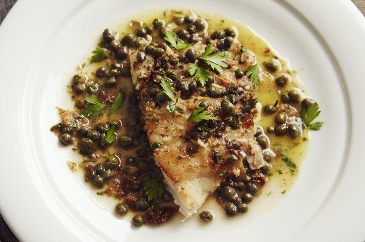 Grouper and Lemon Caper Butter Recipe | RealFoodTraveler.com