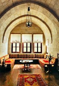 "The inspiration for my future ""sitting room"" -- Esbelli Evi cave hotel in Cappadocia."