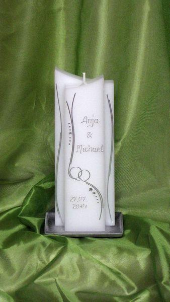 Hochzeitskerze - sehr edel !!! von Leas-Traumkerzen auf DaWanda.com