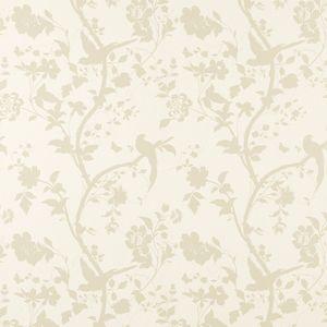 Oriental Garden Gold/Off White Floral Wallpaper