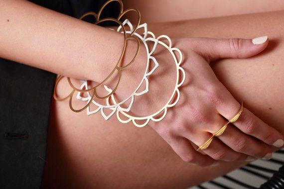 Modular Chic Bracelet. Multiple Playful Bangle Set. Stacking Bracelets. Ultra Thin Geometric Bracelet. Delicate Bracelet. Stacking Bangles