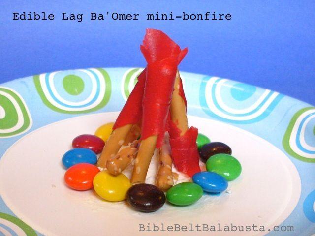 Edible mini bonfire for Lag Ba'Omer