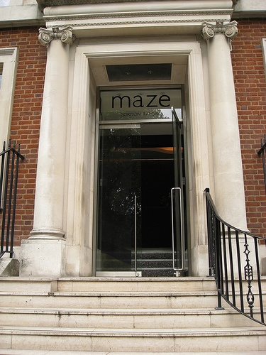 Gordon Ramsay's Maze Restaurant in London LOVED our meal here! :)