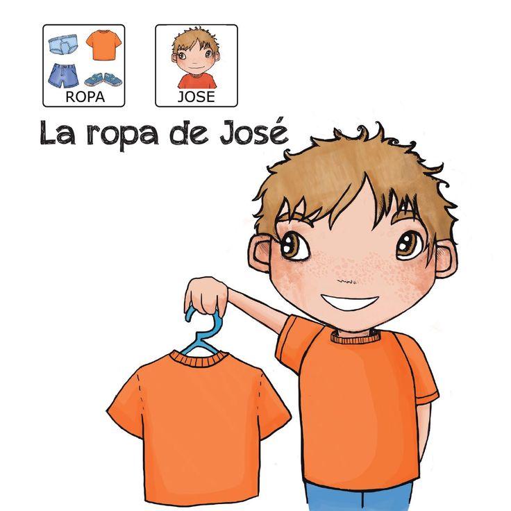 """""""La ropa de José"""" - Proyecto sin ánimo de lucro que consiste en la creación, producción y difusión de cuentos infantiles adaptados a pictogramas para niños con autismo y otras necesidades especiales de aprendizaje, http://www.aprendicesvisuales.com/cuentos/"""
