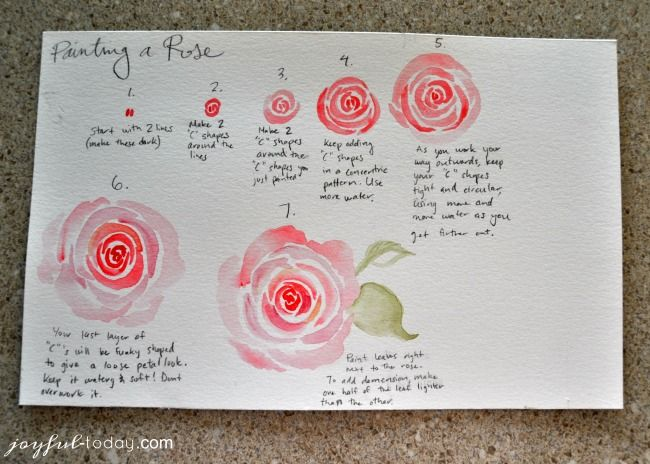 Step By Step Instructions For Diy Watercolor Roses To Help Even A