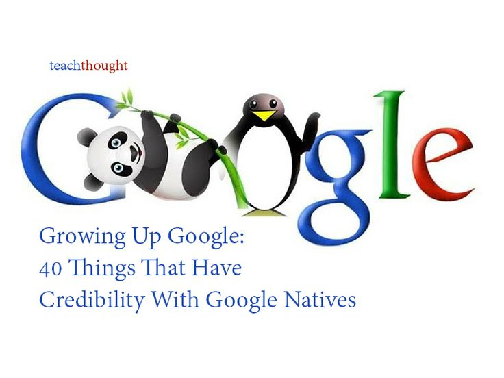 40 Things That Have Credibility With Students That Grew Up Google
