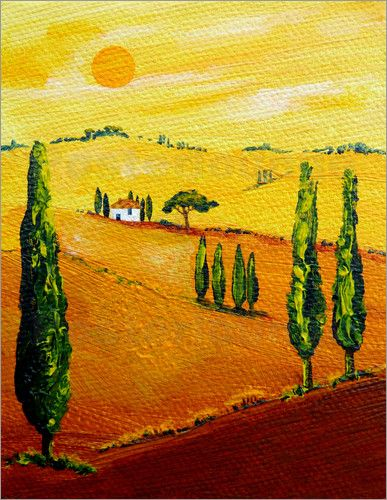 85 besten my tuscany art meine toskana gem lde bilder auf pinterest landschaften toskana und. Black Bedroom Furniture Sets. Home Design Ideas