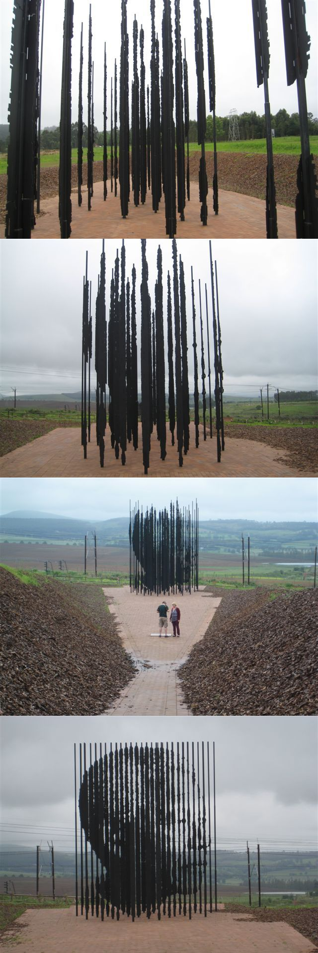 Nelson Mandela sculpture - at the place where he was captured - Kwazulu Natal - South Africa