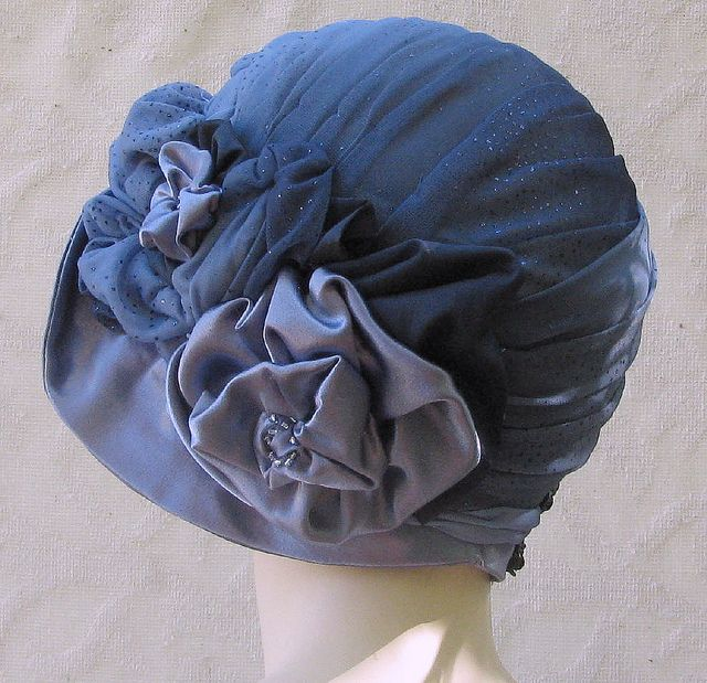 Side view custom cloche hat