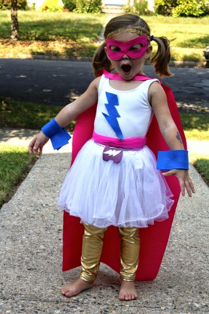 DIY Super Hero Costume For Girls - The Chirping Moms