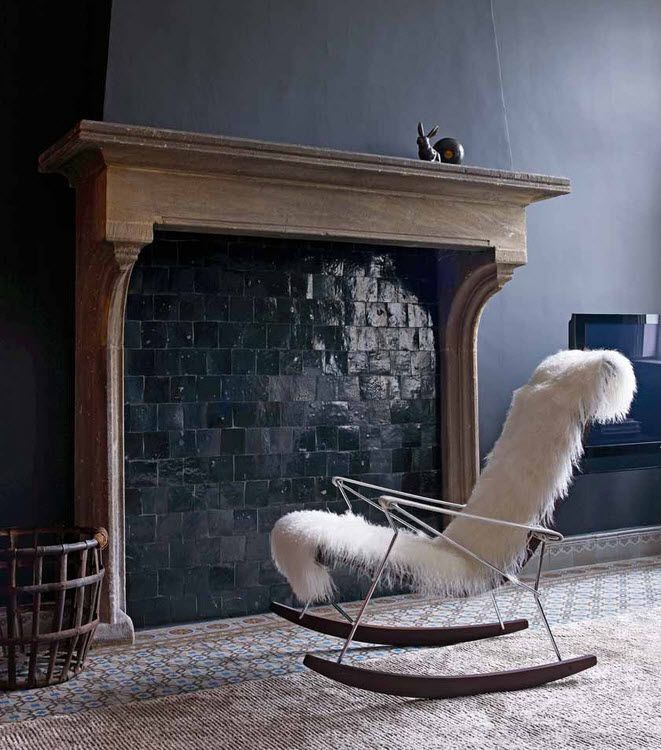 The Article Is For 5 Quick Fixes Solutions Unused Fireplace But I Love Rocker And Dark Walls
