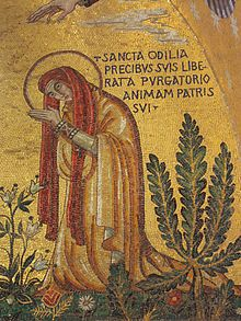 St. Odilia -- miraculously gained vision when she was baptized at age twelve.  Pray for us!