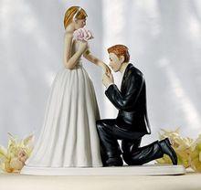 2015 nieuwe bruidstaart topper hars decoraties de paar poppen taart decoreren bruiloft benodigdheden decoracao para casamento(China (Mainland))